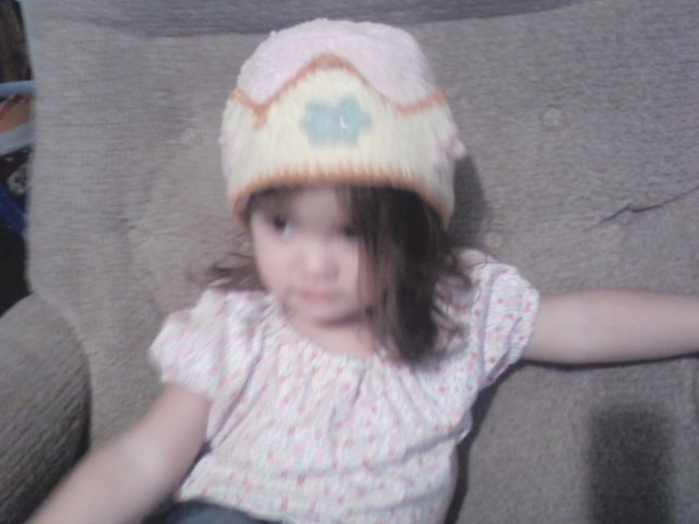 Nora in hat