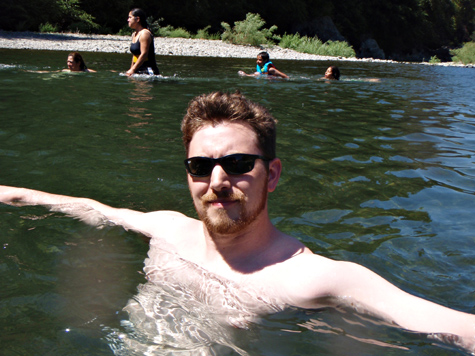 Alan swimming in eel river