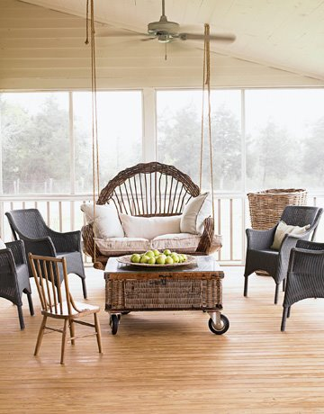 Screened porch in Texas