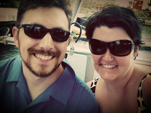 Us on a boat